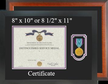 Coast Guard Distinguished Service Certificate Frame-Horizontal