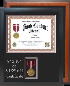 Coast Guard Good Conduct Certificate Frame