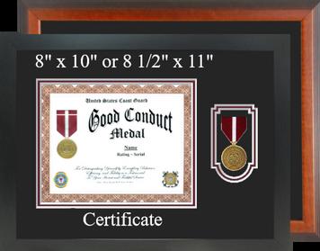 Coast Guard Good Conduct Certificate Frame-Horizontal