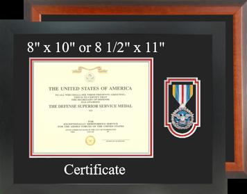 Defense Superior Service Certificate Frame-Horizontal