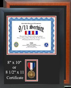 DOT 9 11 Service Certificate Frame