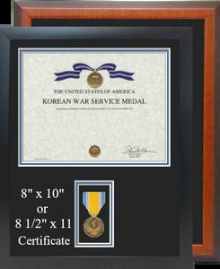 Korean War Service Certificate Frame