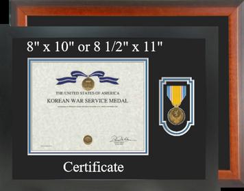 Korean War Service Certificate Frame-Horizontal