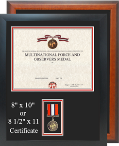Multi National Force and Observers Certificate Frame