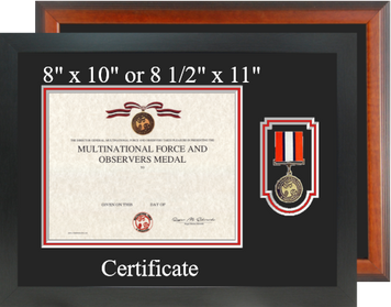 Multi National Force and Observers Certificate Frame-Horizontal