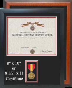 National Defense Service Certificate Frame