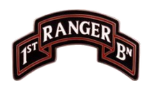 1st Ranger Battalion Scroll - 75th Regiment Combat Service Identification Badge (CSIB)