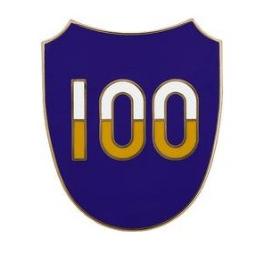100th Training Division Combat Service Identification Badge (CSIB)