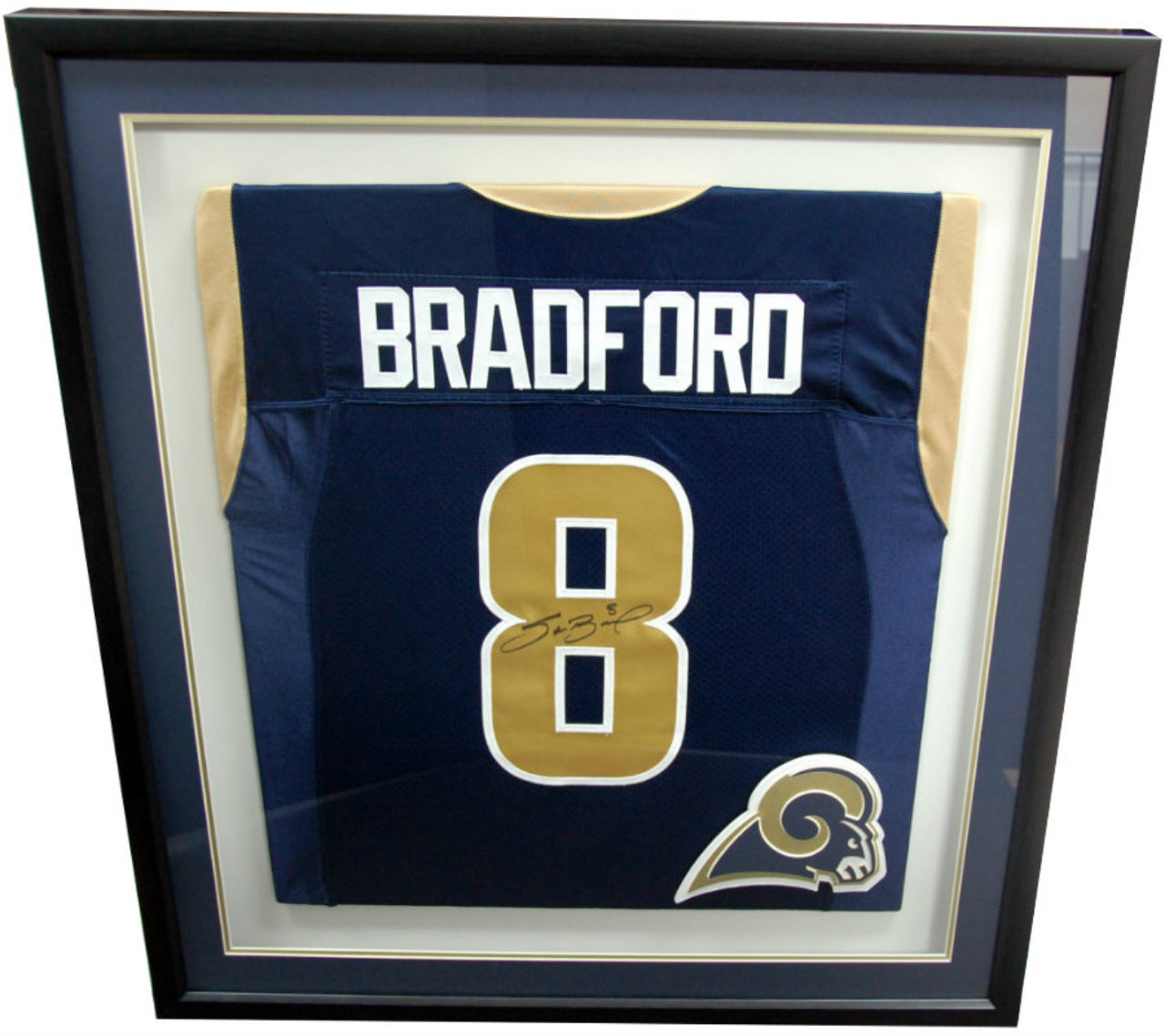 newest b2574 80a59 St. Louis Rams Jersey Shadow Box - Military Memories and More