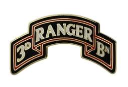 3rd Ranger Battalion Scroll 75th Ranger Regiment Combat Service Identification Badge (CSIB)
