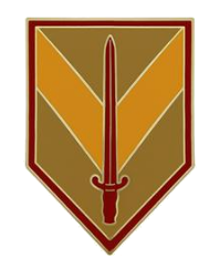 1st Sustainment Brigade Combat Service Identification Badge (CSIB)