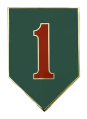1st Infantry Division Combat Service Identification Badge (CSIB)