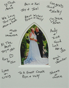 Signature Photo Mat With Gothic Opening