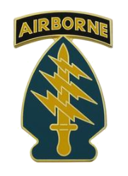 Special Forces Group with Airborne Tab Combat Service Identification Badge (CSIB)