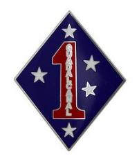 1st Marine Division Combat Service Identification Badge (CSIB)