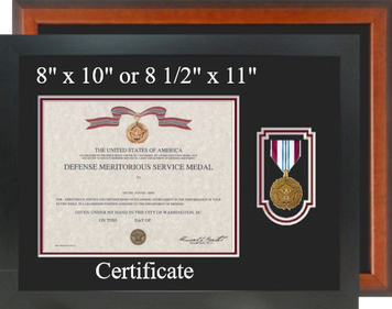Defense Meritorious Service Certificate Frame-Horizontal