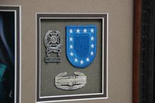 Qualification Badge, Beret Patch, & Combat Action Badge