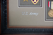 US Army Scribed w/ Brown & Silver Metallic Paint Pens