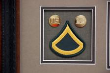 US Brass w/ Insignia & PFC Rank Patch