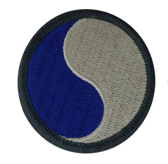 29th Infantry Division Patch Subdued
