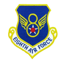 8th Air Force Command w/ hook closure- color