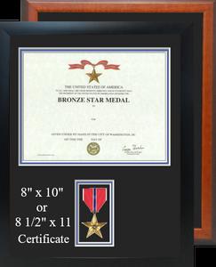 Bronze Star Certificate Frame