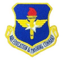 Air Education and Training Command w/hook closure- color