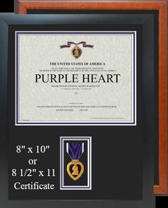 Purple Heart Certificate Frame