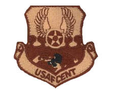 Air Force Central: USAFCENT w/hook closure- desert