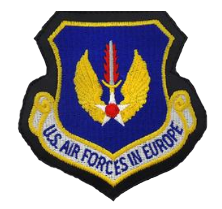 Air Force In Europe- leather- color