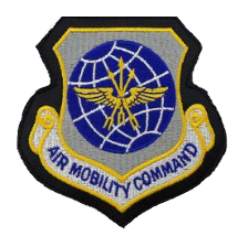 Air Mobility Command-leather  w/hook closure- color
