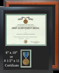 Army Achievement Certificate Frame