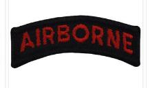 Airborne Tab- Red on Black