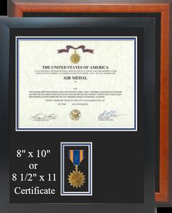 Air Medal Certificate Frame