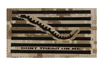 Flag Patch- Don't Tread On Me-Desert Digital