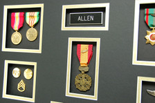 Name Tag, Vietnam Gallantry Cross, US Rank Brass, National Defense, & Vietnam Service Medal