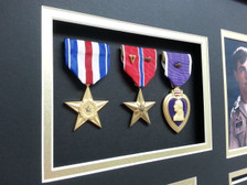 Silver Star, Bronze Star, Purple Heart