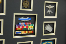 Ribbon Rack, Jump Wings, Dog Tags