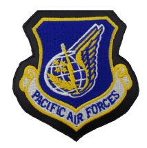 Pacific Air Force Patch- leather color