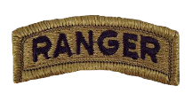 Ranger Tab Patch- w/ hook closure- OCP
