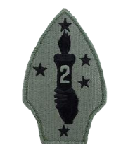 Second Division Patch- w/ hook closure-  ACU