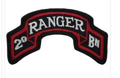 Second Ranger Battalion Patch- color