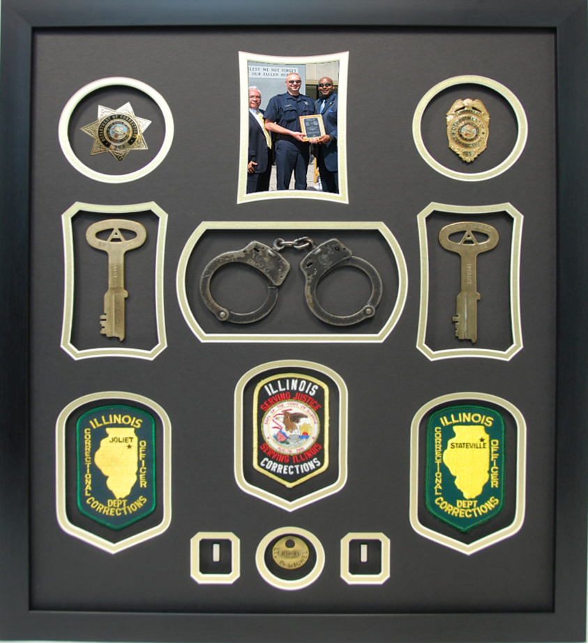Illinois Department of Corrections Retirement Shadowbox