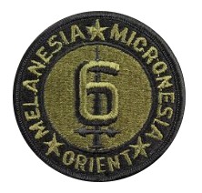 Sixth Division Patch- subdued (NON-RETURNABLE)