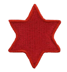 Sixth Infantry Division Patch- color