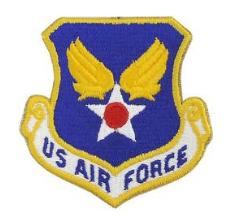 U.S. Air Force Patch- w/hook closure- color