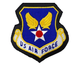 U.S. Air Force Patch- leather w/hook closure- color