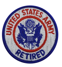 U.S. Army Retired Patch- color