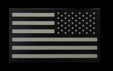 U.S. Flag Patch- Reversed  w/hook closure- IR