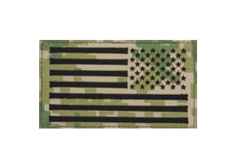 U.S. Flag Patch Reversed Field- Woodland Digital